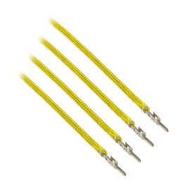 CableMod ModFlex™ Sleeved Wires - Yellow 16 inch - 4 Pack