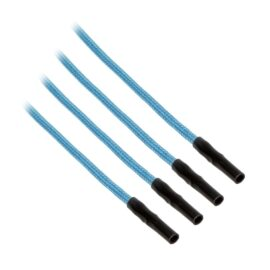 CableMod ModFlex™ Sleeved Wires - Light Blue 24 inch - 4 Pack