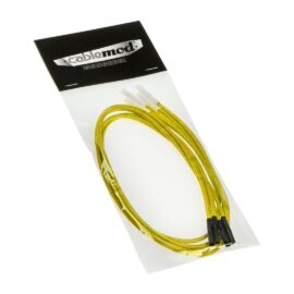 CableMod ModFlex™ Sleeved Wires - Yellow 24 inch - 4 Pack