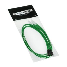 CableMod ModFlex™ Sleeved Wires - Green 8 inch - 4 Pack
