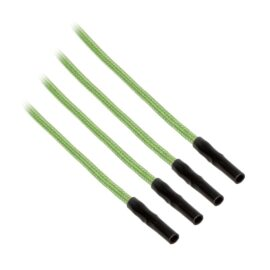 CableMod ModFlex™ Sleeved Wires - Light Green 8 inch - 4 Pack