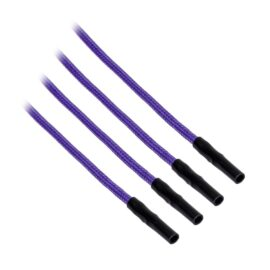 CableMod ModFlex™ Sleeved Wires - Purple 8 inch - 4 Pack