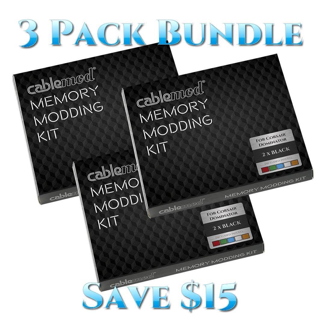 CableMod® Memory Modding Kit for Corsair® Dominator - 3 PACK BUNDLE