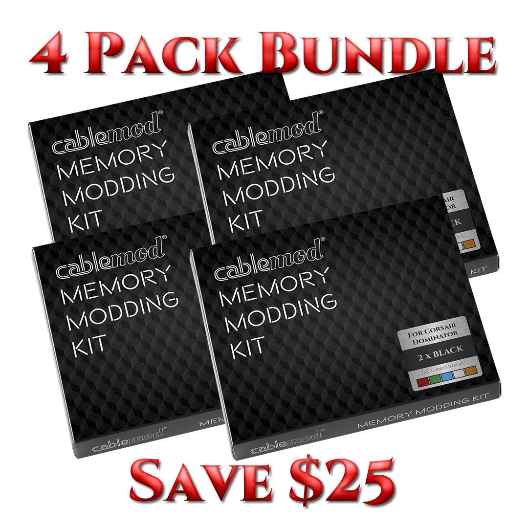 CableMod® Memory Modding Kit for Corsair® Dominator - 4 PACK BUNDLE