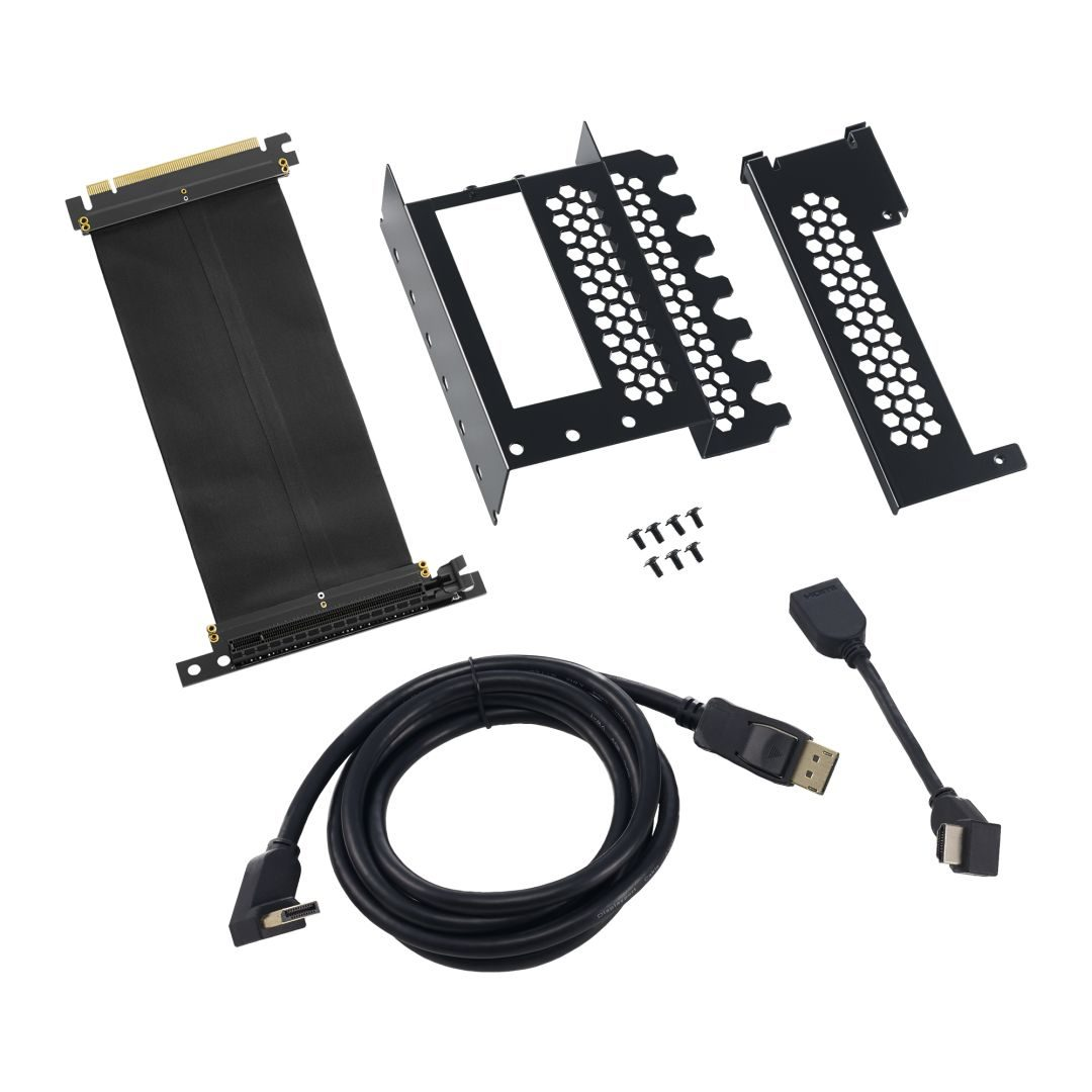 CableMod Vertical PCI-e Bracket - HDMI + DisplayPort - BLACK